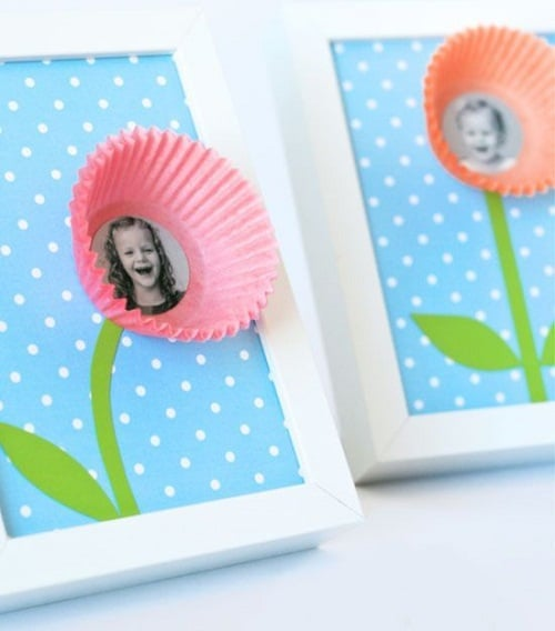 Picture Frame Hack using Cupcake Liners DIY Craft Ideas