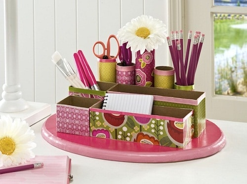 Small and Big Boxes as Pen and Craft Material Holder DIY Craft Ideas