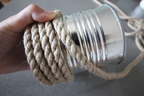 Tin Can wrapped in Rope DIY Craft Ideas