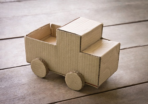 DIY Cardboard Car Project