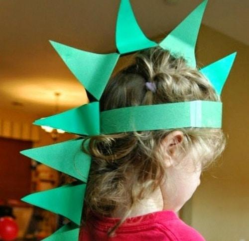 DIY Paper Dinosaur Hat Projects