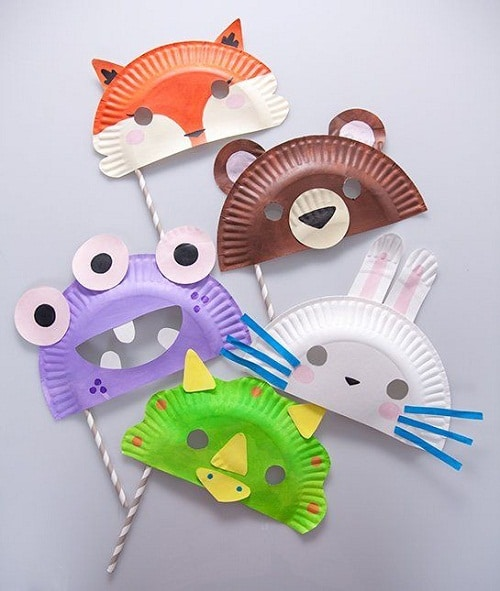 DIY Paper Plate Masks Projects