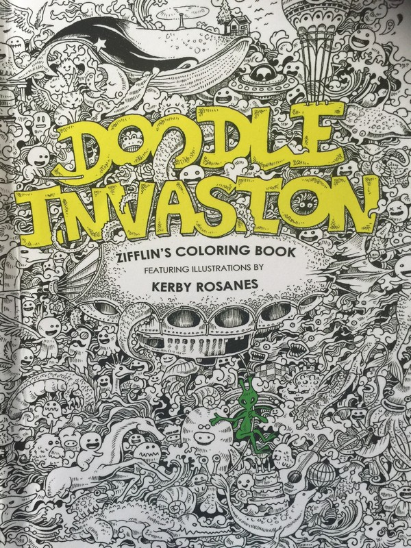 Doodle Invasion Zifflin Coloring Book
