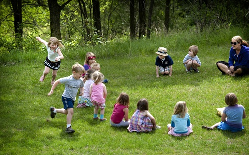 Duck, Duck, Goose Running Outdoor Party Game for Kids
