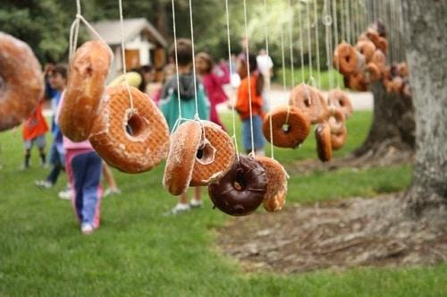 Eating Game for Kids Bobbing the Donut