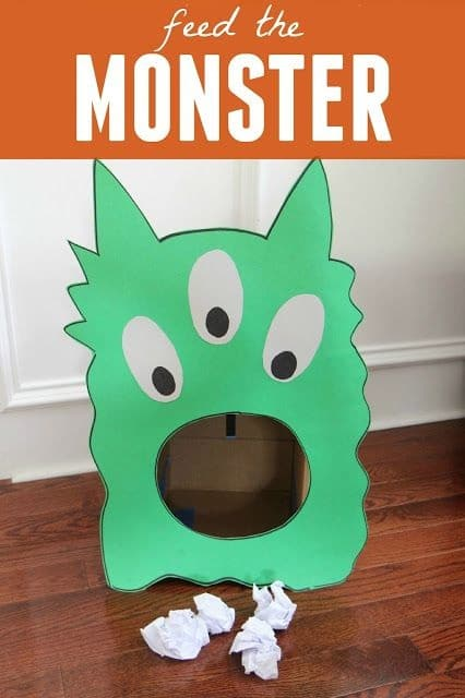 Feed the Monster Garbage Box DIY Craft Projects