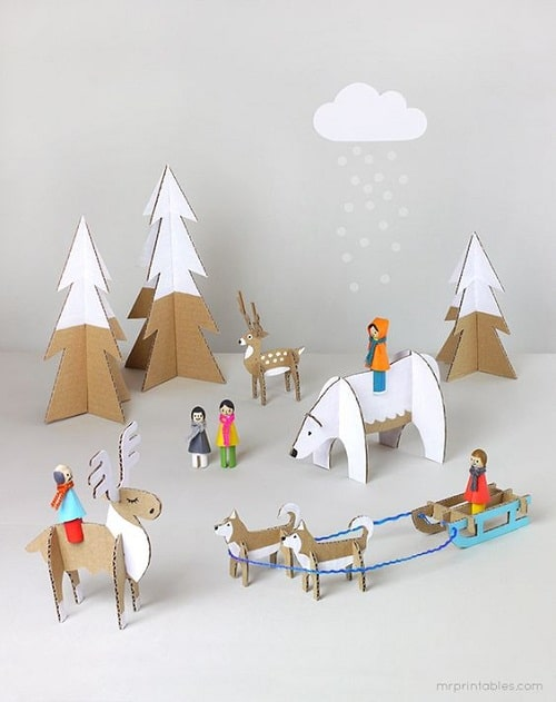 Little Toys Made of Card Board DIY Projects for Kids