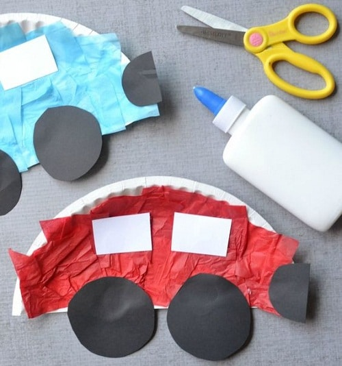 Paper Plate Car DIY Projects