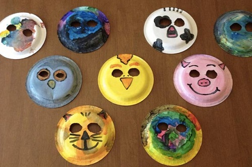 Paper Plate Masks DIY Projects