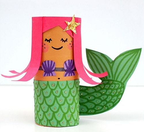 Paper Roll Dolls Craft DIY Projects