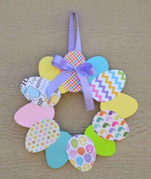 Paper Wreathe for Easter DIY Craft Projects