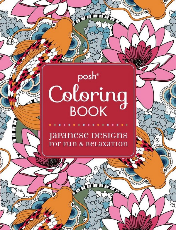 Posh Coloring Book Japanese Designs