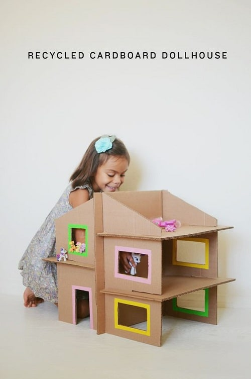 Recycled Cardboard Doll House DIY Projects