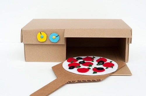 Shoebox Pizza Oven DIY Toy Projects for Kids