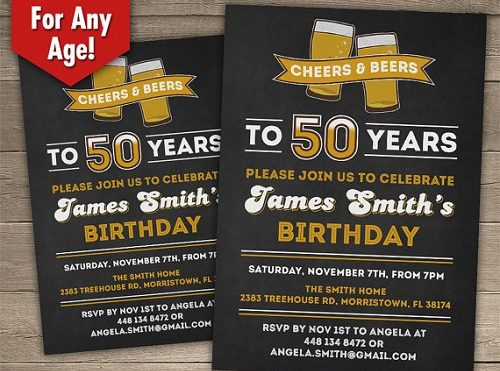 Invitation 50th Birthday Ideas
