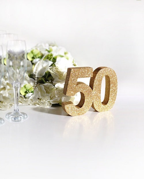 Party Table Decoration 50th Birthday Ideas