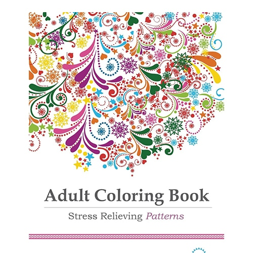 Title Adult Coloring Book Stress Relieving Patterns