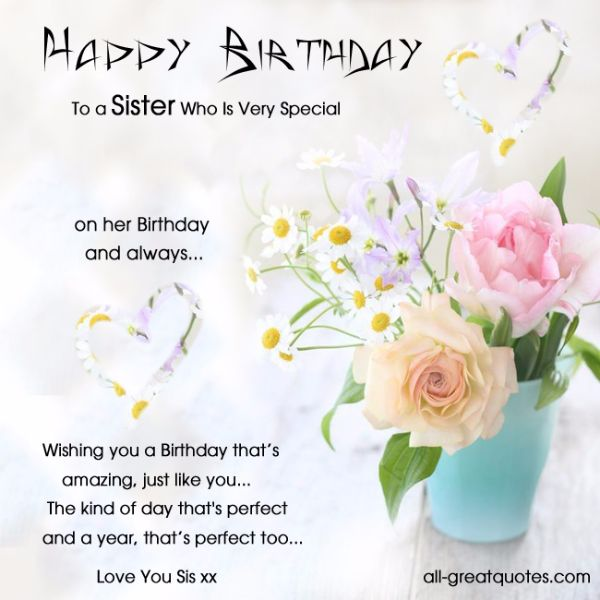 Best Birthday Wishes Cards For Sister