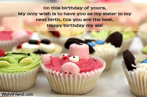 Birthday Wishes For Sister Poem