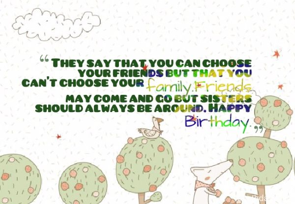 Happy Birthday Wishes For Sister Poem