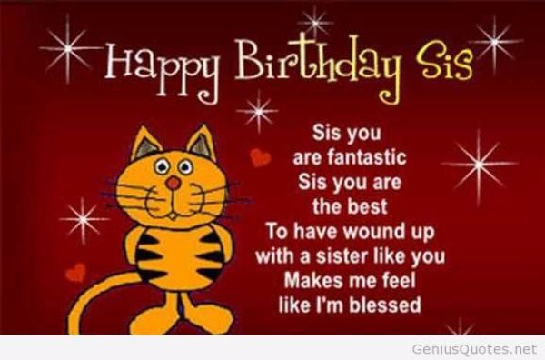 Happy Birthday Wishes For Sister Funny