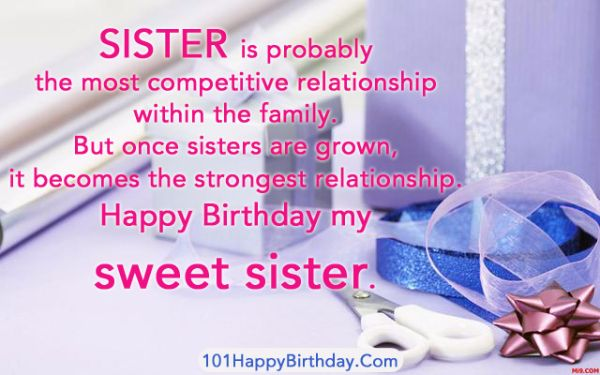 Happy Birthday Wishes Images For Sister
