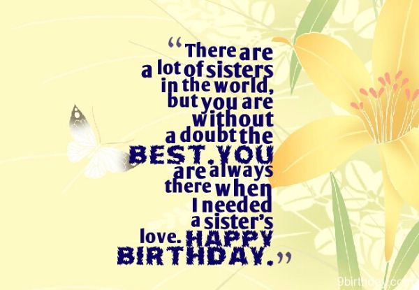 Best Birthday Wishes Images For Sister