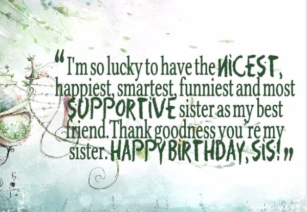 Best Happy Birthday Wishes SMS For Sister