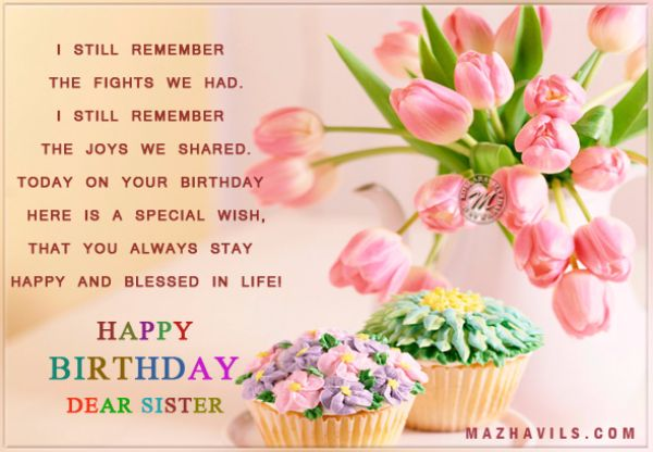 Best Happy Birthday Wishes Cards For Sister