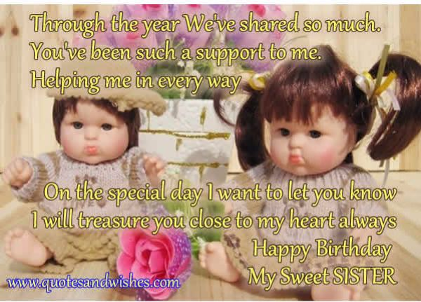 Best Happy Birthday Wishes For Sister Poem