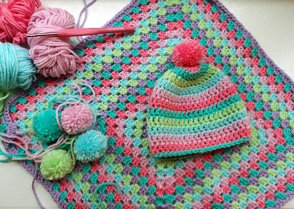 Crochet Square Baby Blanket