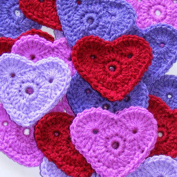 Crochet Valentine Hearts