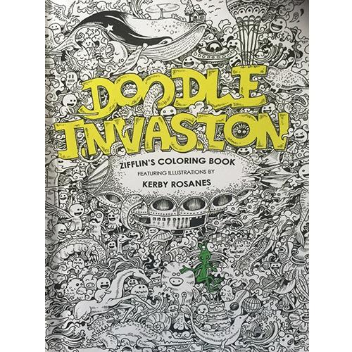 Title Doodle Invasion Zifflin Coloring Book