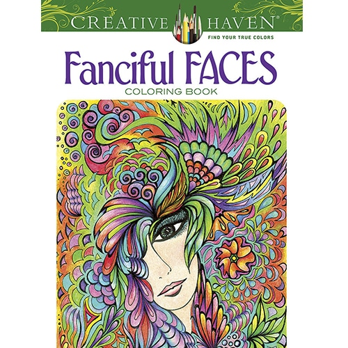 Title Fanciful Faces Coloring Book