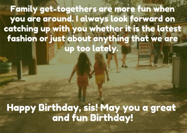 Funny Birthday Wishes Messages For Sister