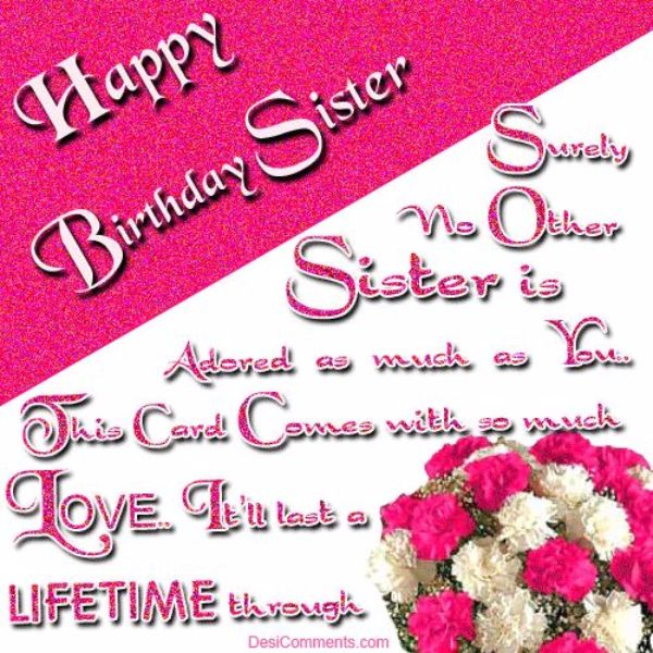 Funny Happy Birthday Wishes Cards For Sister