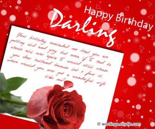 Happy Birthday Wishes For Husband From Wife