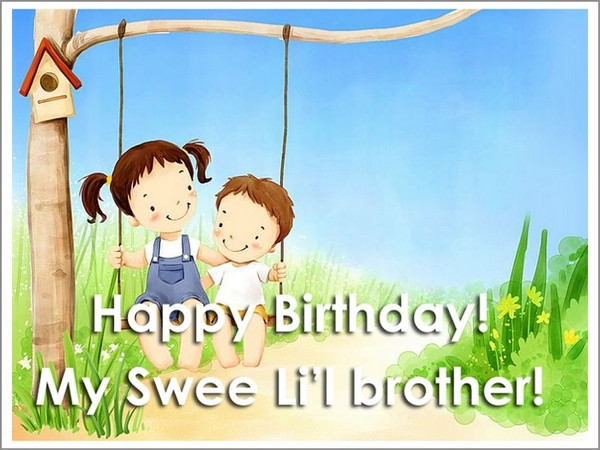 Happy Birthday Greetings Pour Little Brother