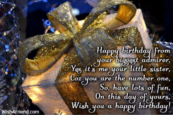 Sweet Happy Birthday Wishes For Sister Poem