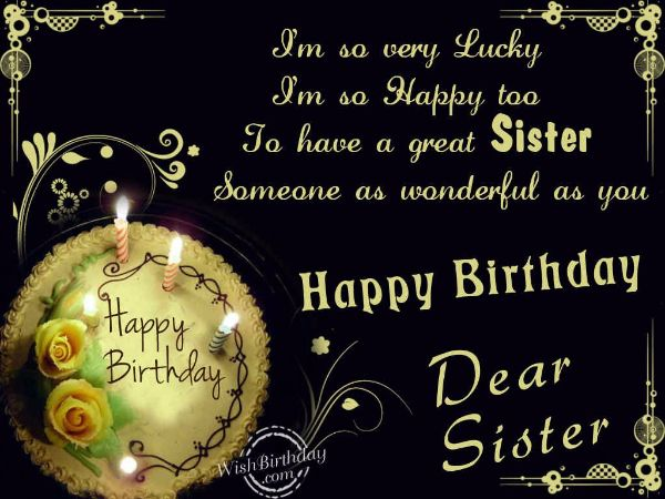 Sweet Happy Birthday Wishes Images For Sister