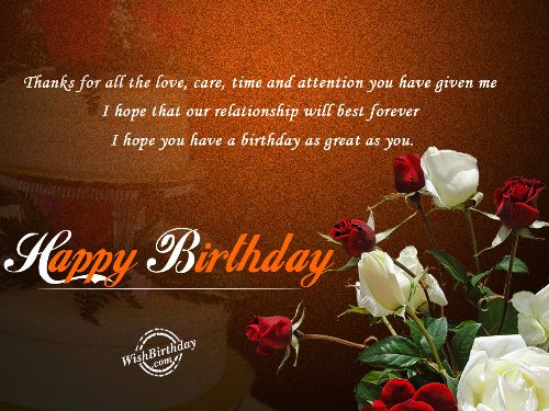 Birthday Wishes For Husband From Wife