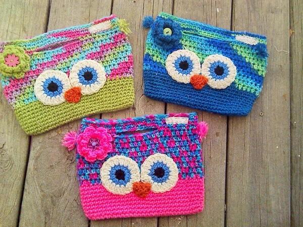 Owl Handbag Crochet Pattern