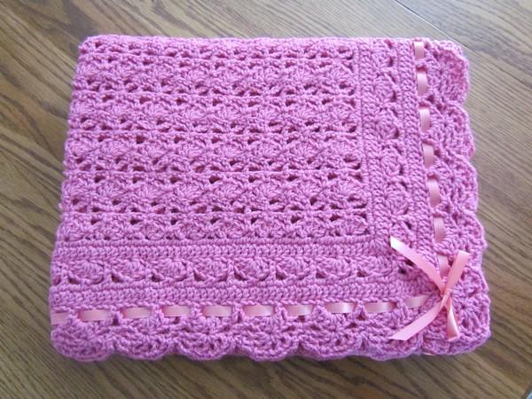 Pink Baby Afghan Crochet
