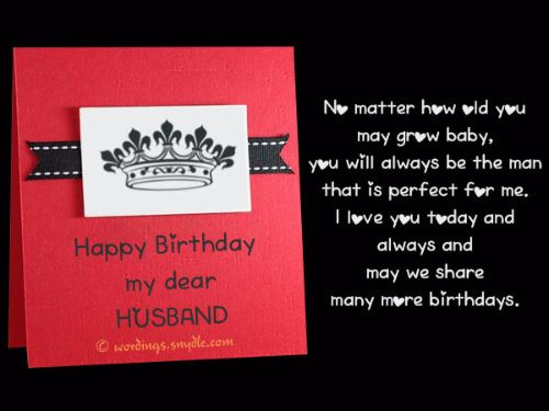 Birthday Wishes For Husband Pinterest
