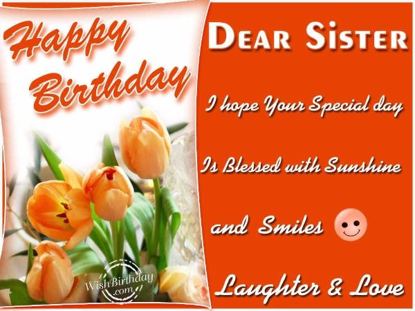 Religious Happy Birthday Wishes Images For Sister