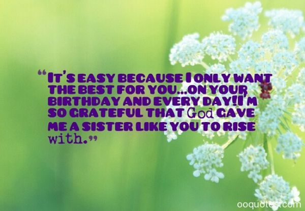 Religious Birthday Wishes SMS For Sister