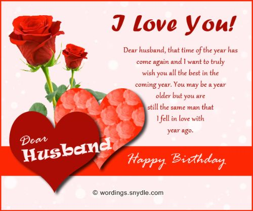 Sweet Husband Birthday Wishes