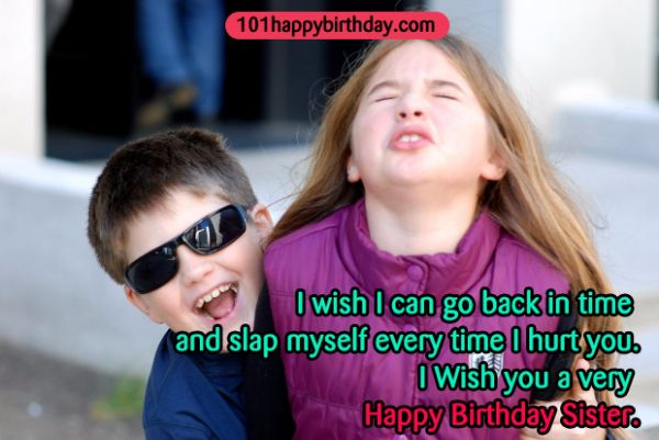 Sweet And Funny Birthday Wishes For Sister