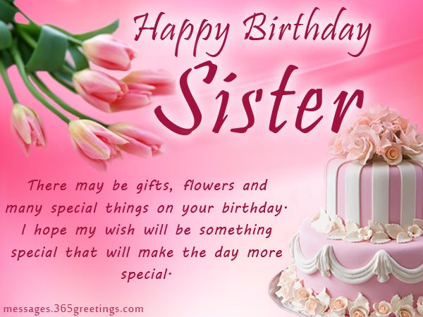 Sweet Birthday Wishes For Sister From Brother