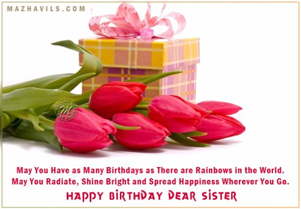 Sweet Birthday Wishes For Sister Funny